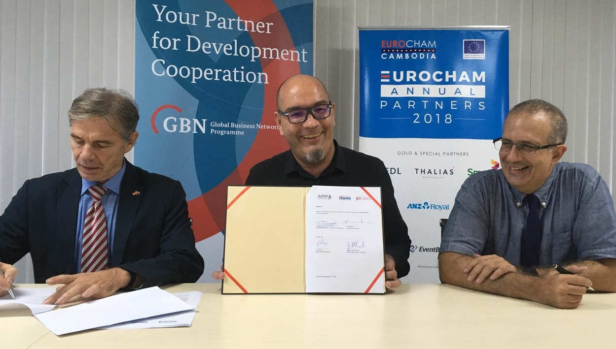 MoU signed between ADW, EuroCham and GIZ
